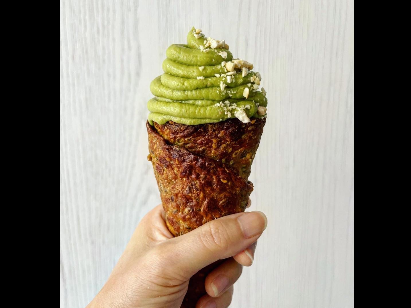 偽甜點健身餐~抹茶霜淇淋!