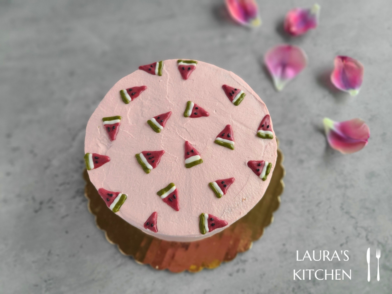 粉紅可可蛋糕 (芋泥布丁夾餡)