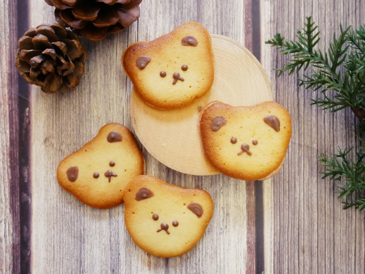 可愛的「小熊白色戀人餅乾」內餡香濃好滋味