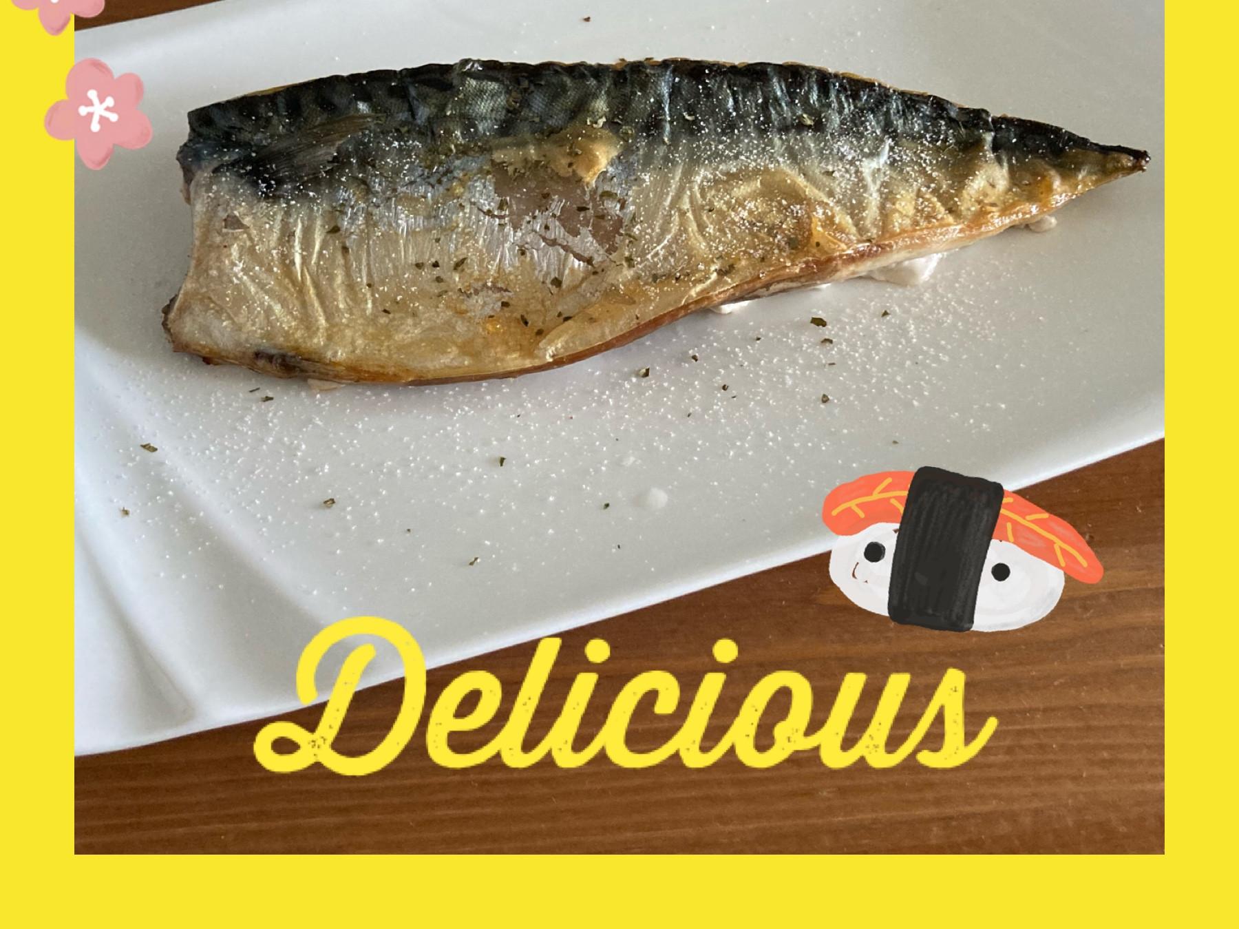 家常料理~懶人料理~香烤多汁海鹽鯖魚