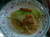 高麗菜鰻魚義大利麵