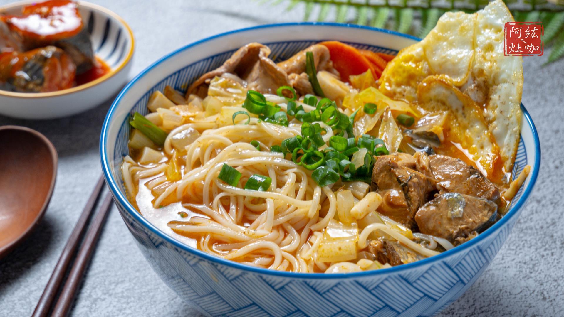 #131 茄汁鯖魚麵 / 颱風麵