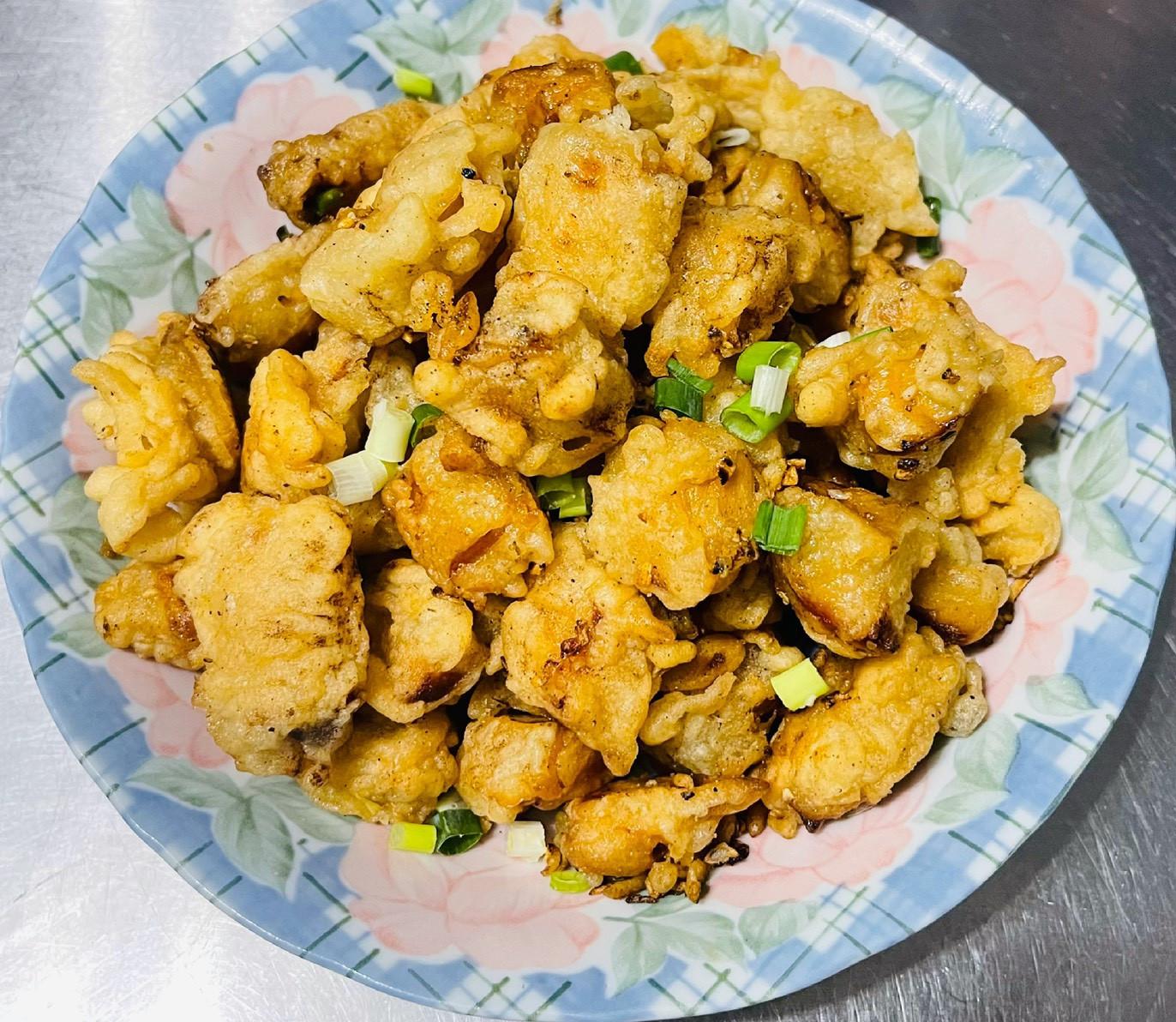 鹹酥豆乳杏鮑菇「下酒菜沒有肉也很好吃」