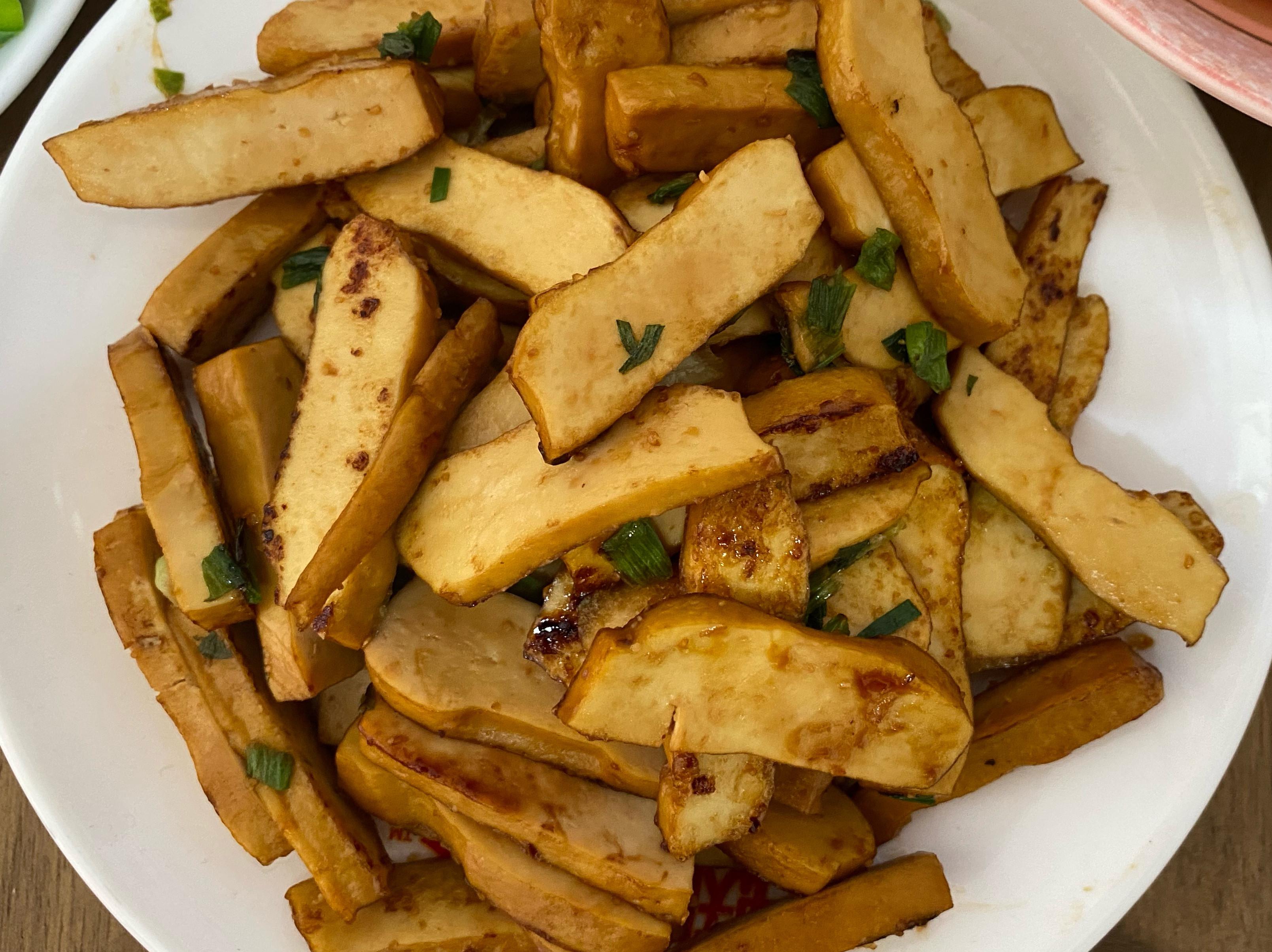 下酒菜-蠔油豆干一鍋煎