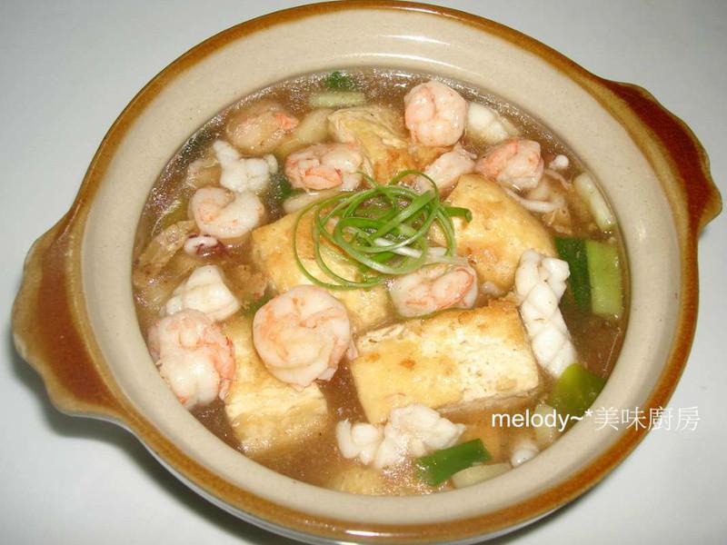 [健康廚房10分鐘出年菜]海鮮豆腐煲
