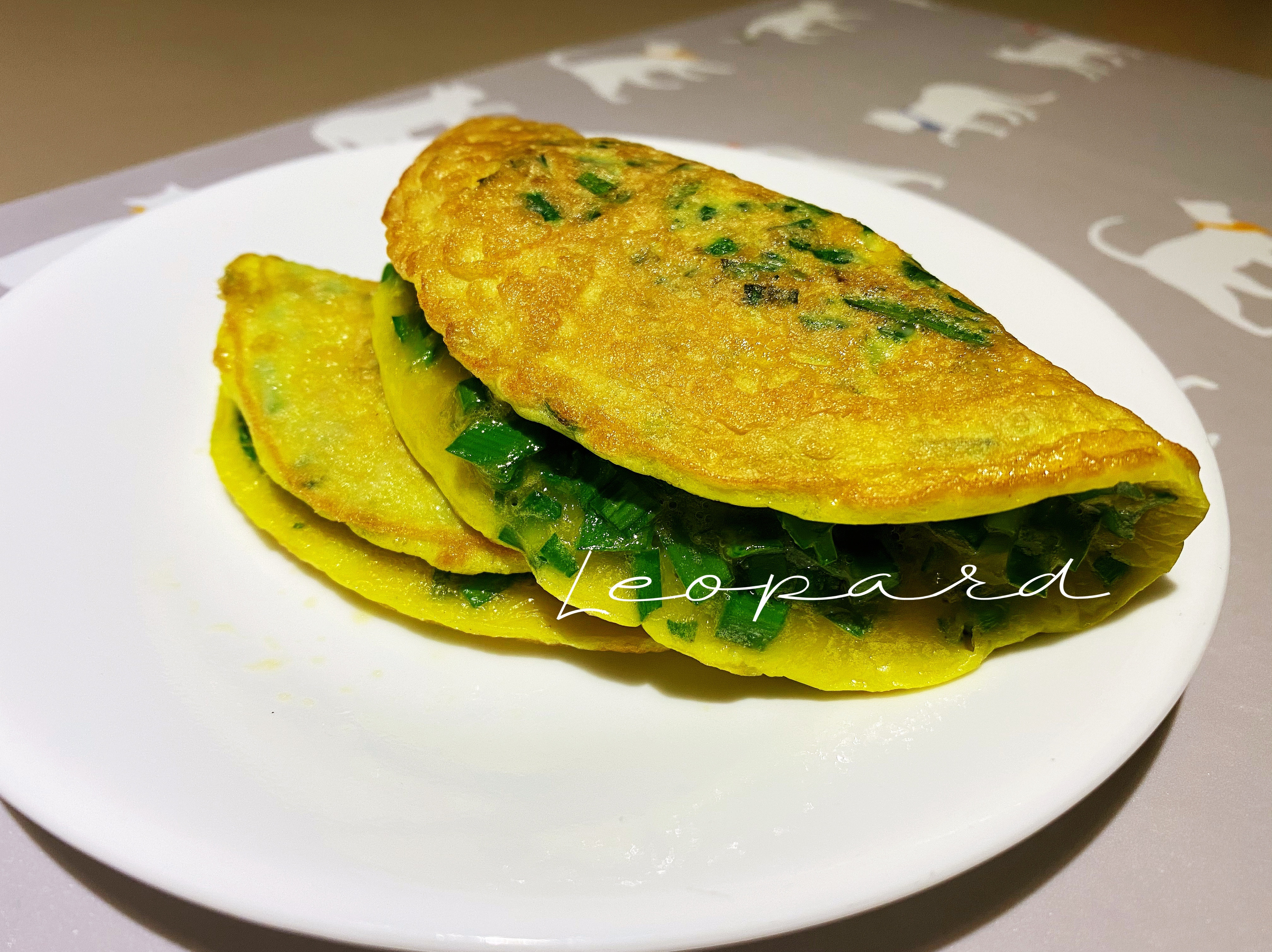 韭菜🌮雞蛋煎餅pancake