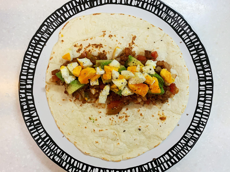 墨西哥餅皮 辣味肉醬罐頭 之清冰箱料理