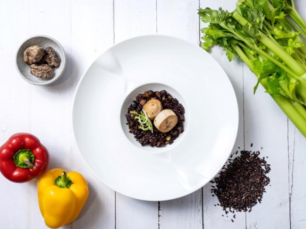 段木干貝黑糙米燉飯 全素