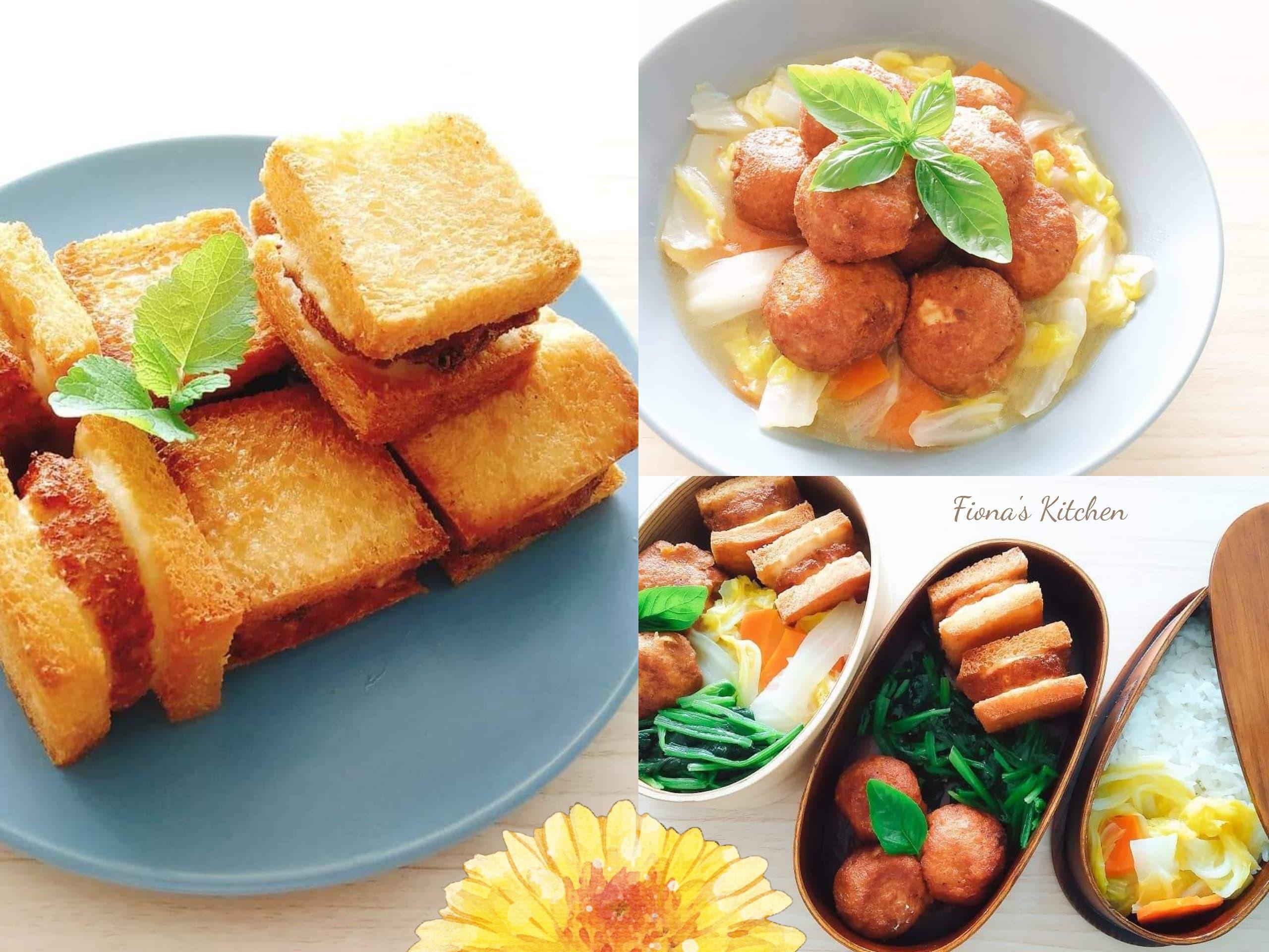 豆腐丸子的應用:飛龍頭、麵包蝦、獅子頭