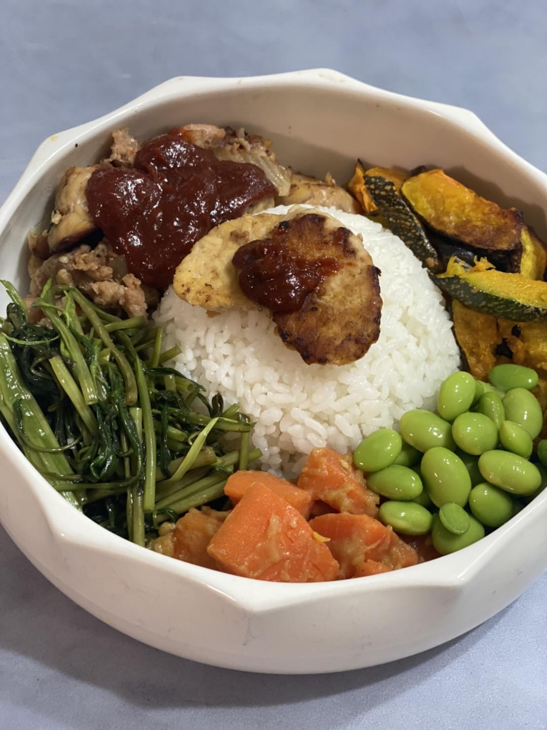 韓式辣味天貝佛陀碗 (蔬食料理)