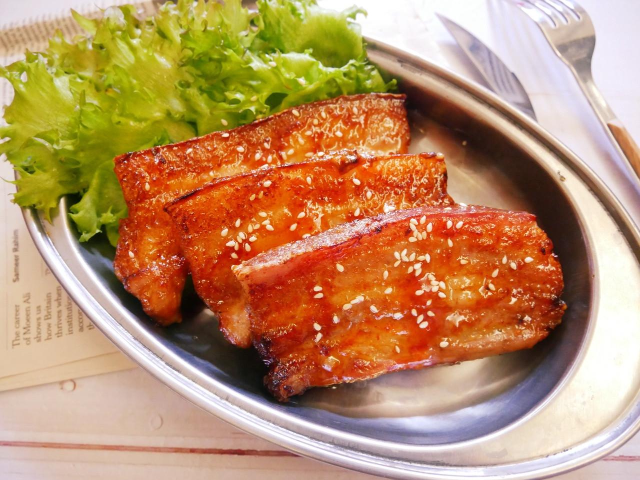 氣炸鍋「韓式辣烤豬五花」超棒的下酒菜~