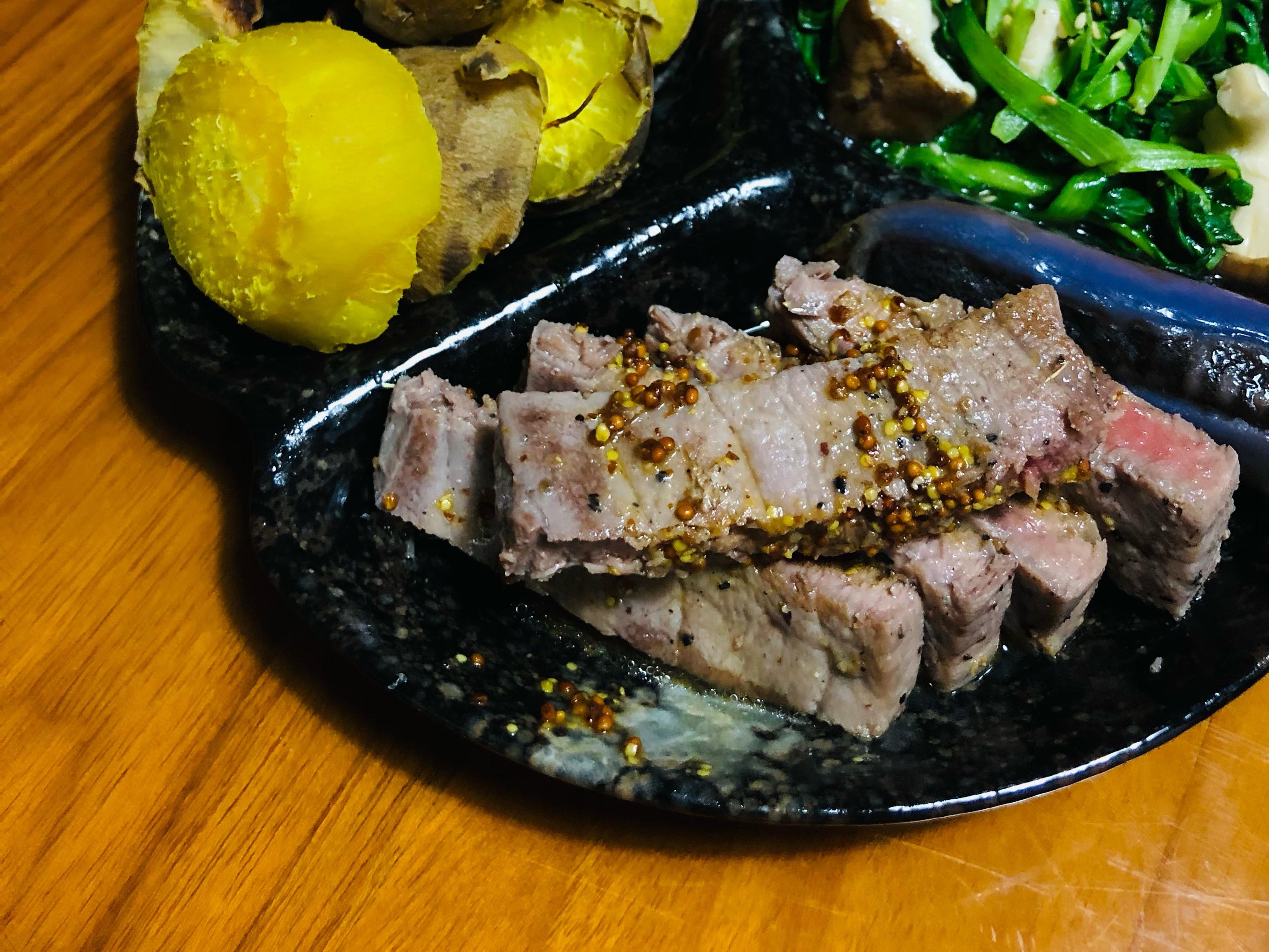 香煎芥末籽醬鮪魚片