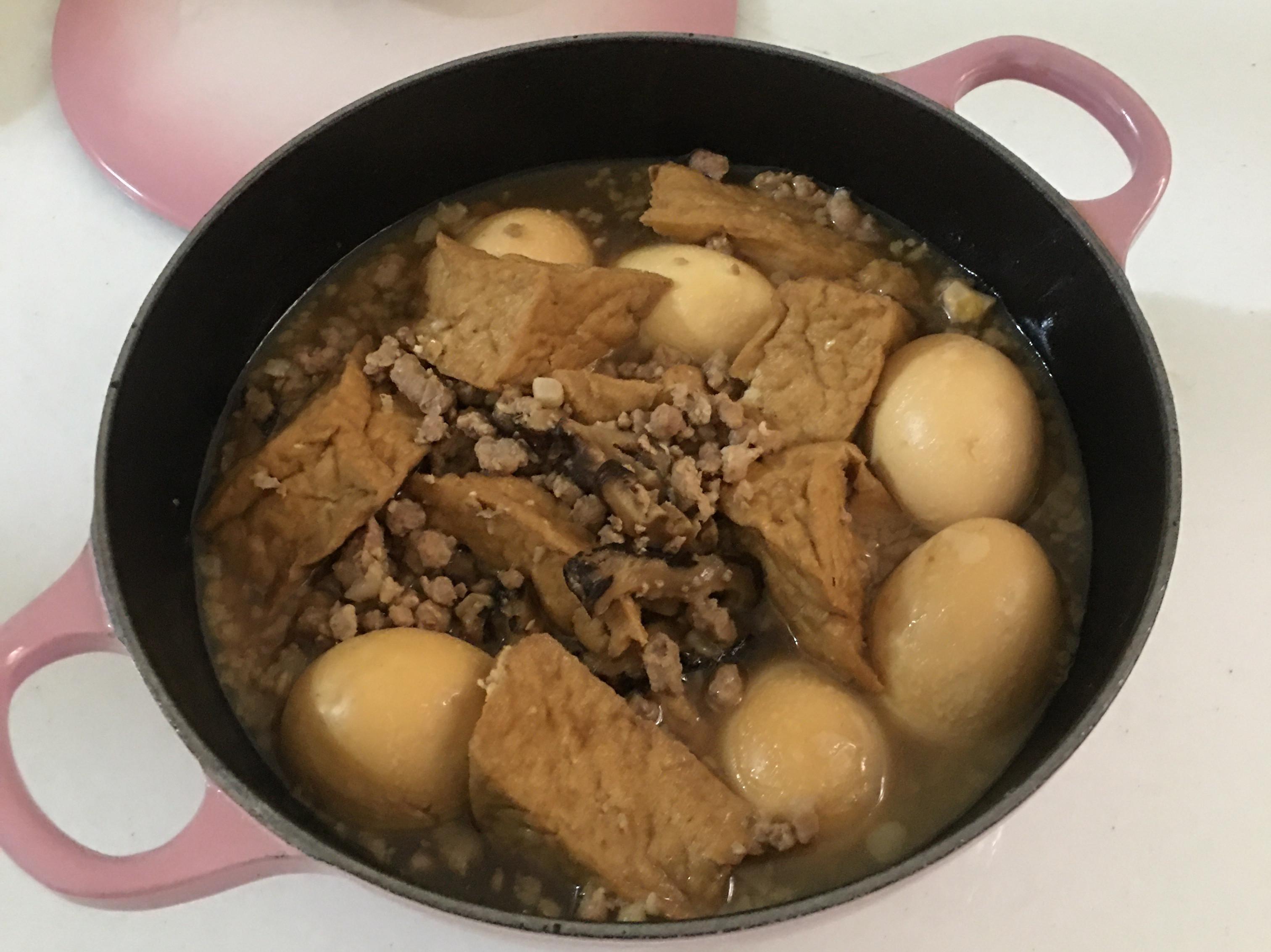 肉燥滷蛋油豆腐