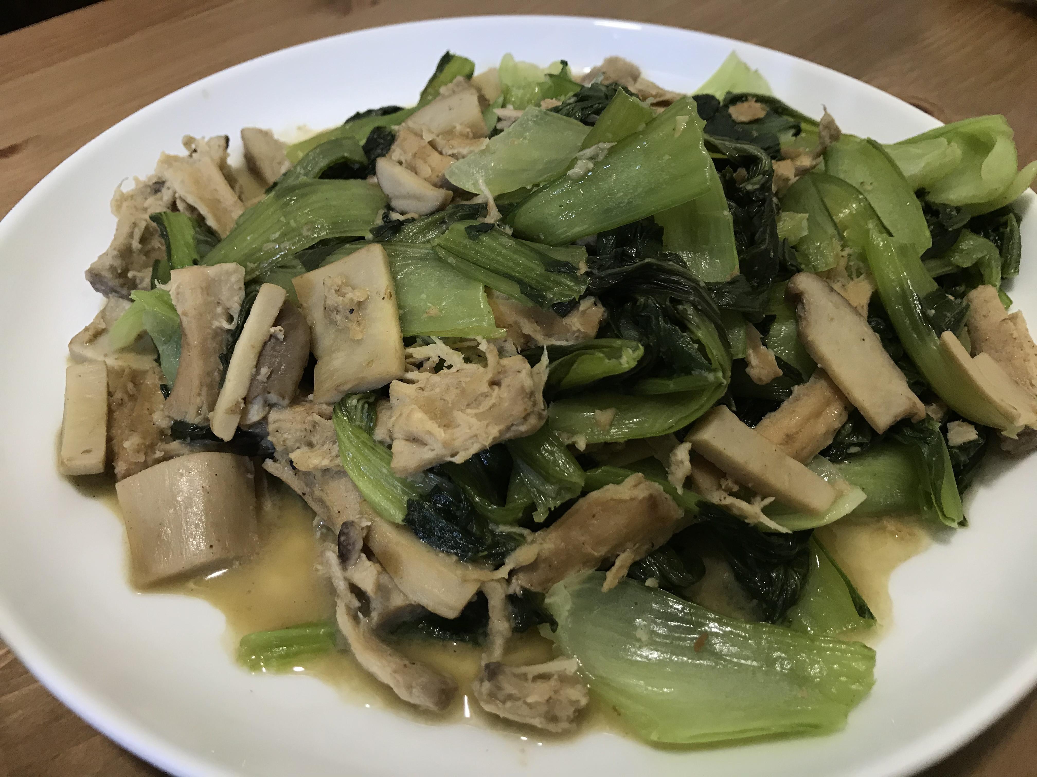 沙茶炒青江菜(全素)
