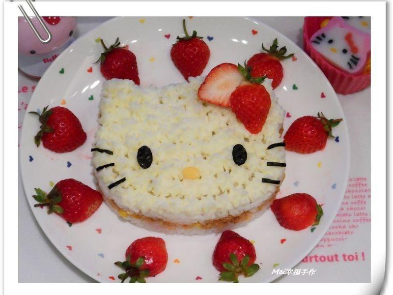 【Hello kitty蛋糕飯飯】