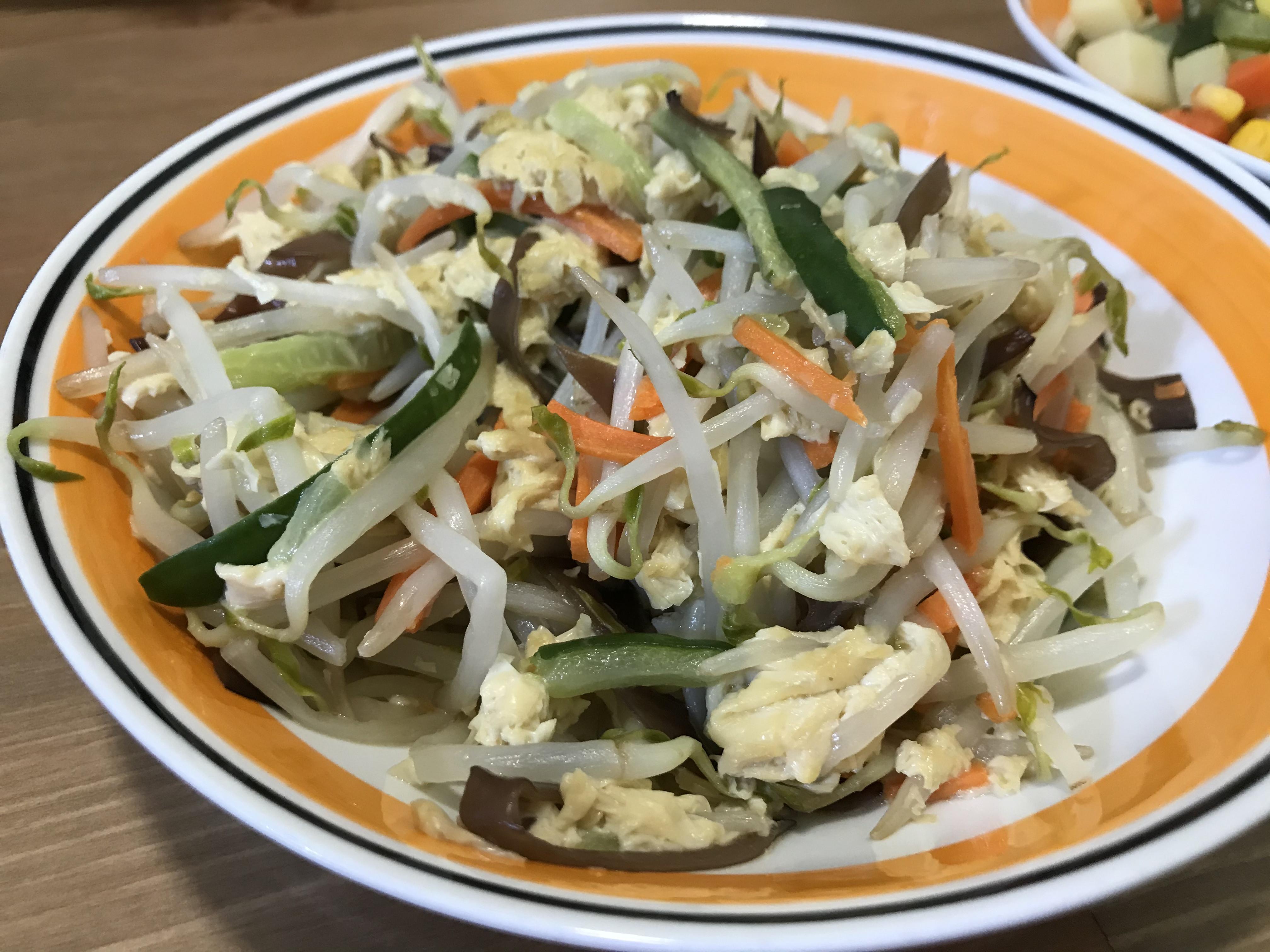 清炒豆芽菜(全素)