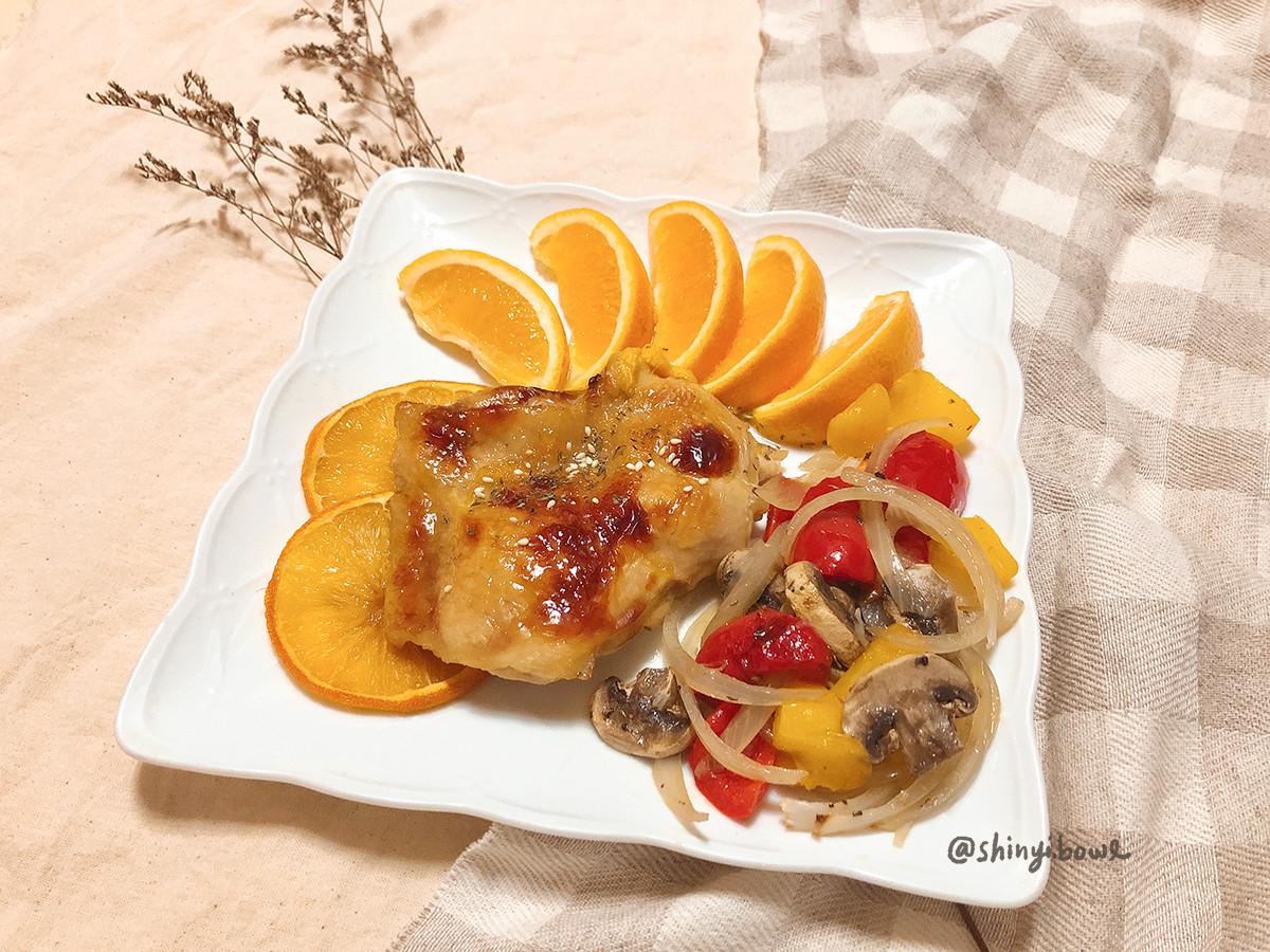 橙香雞腿排