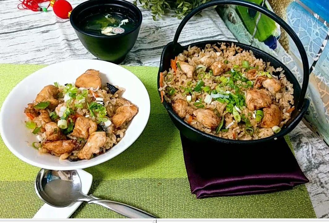 里雞肉雙菇炊飯