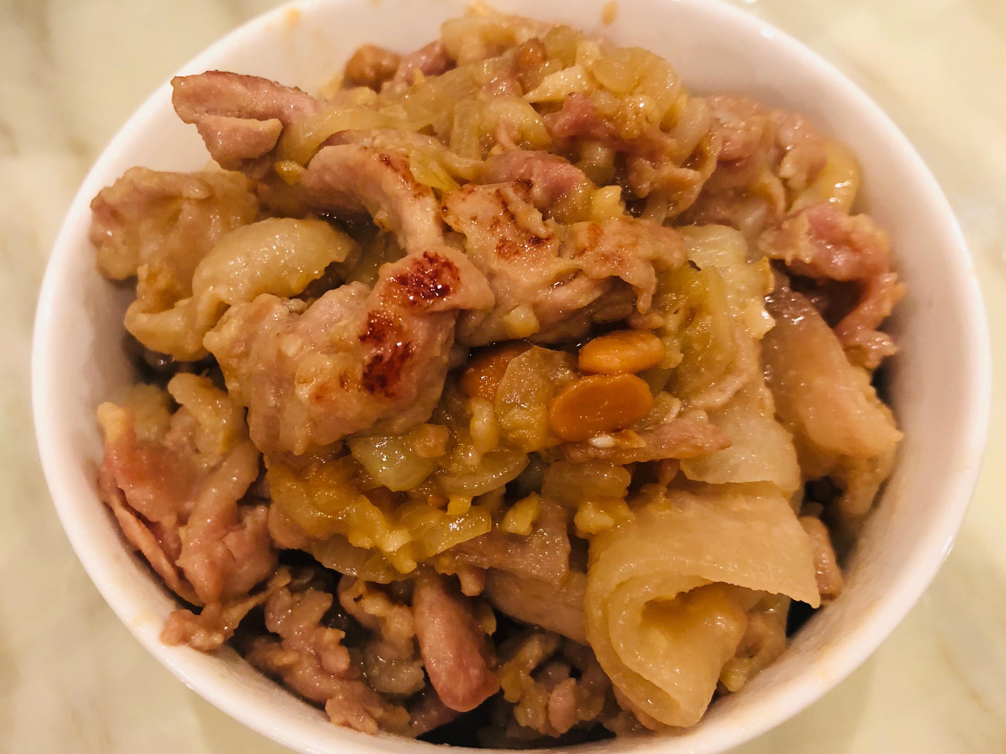 乾煎豆腐乳豬肉片