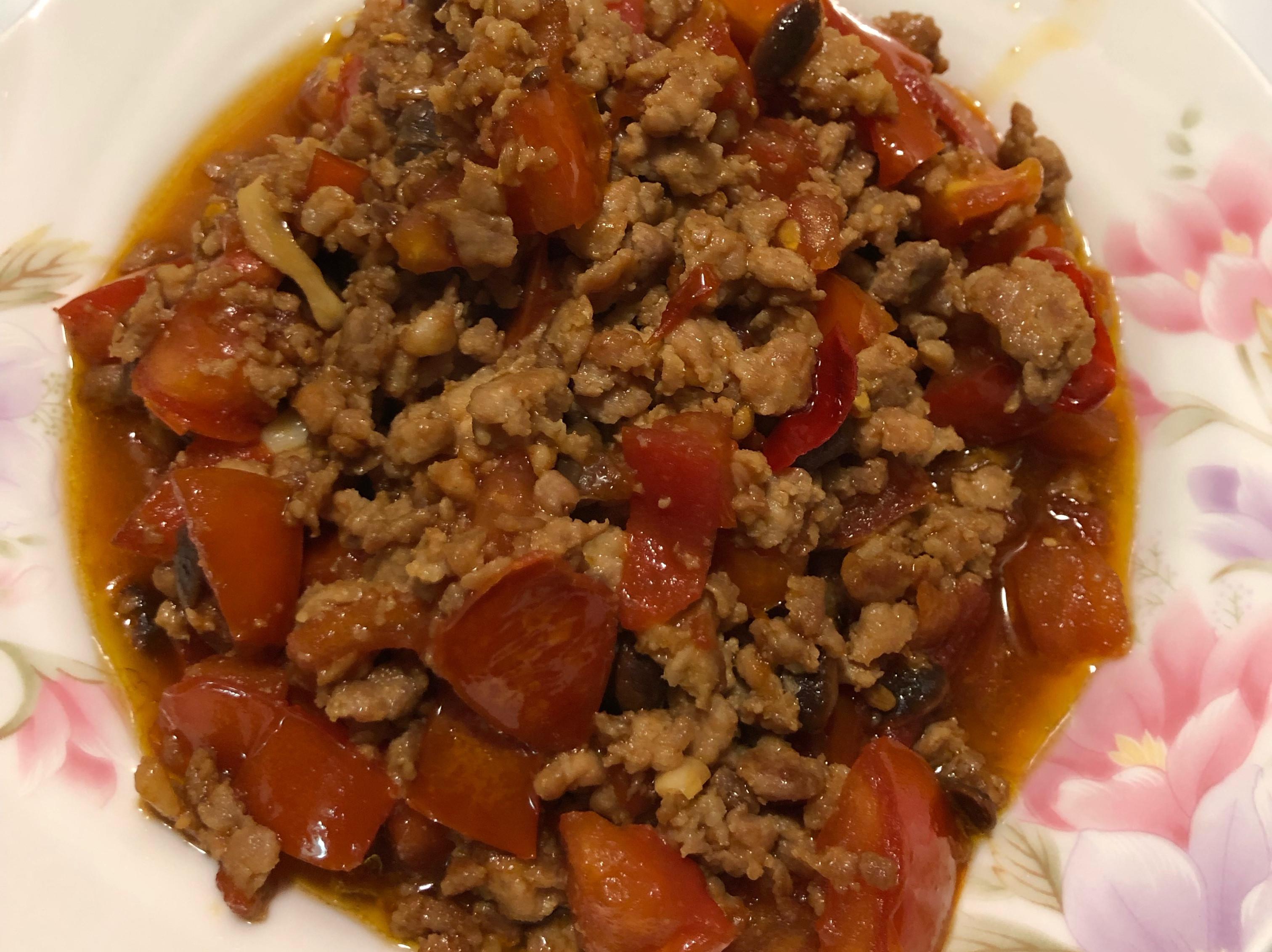 絞肉炒蕃茄
