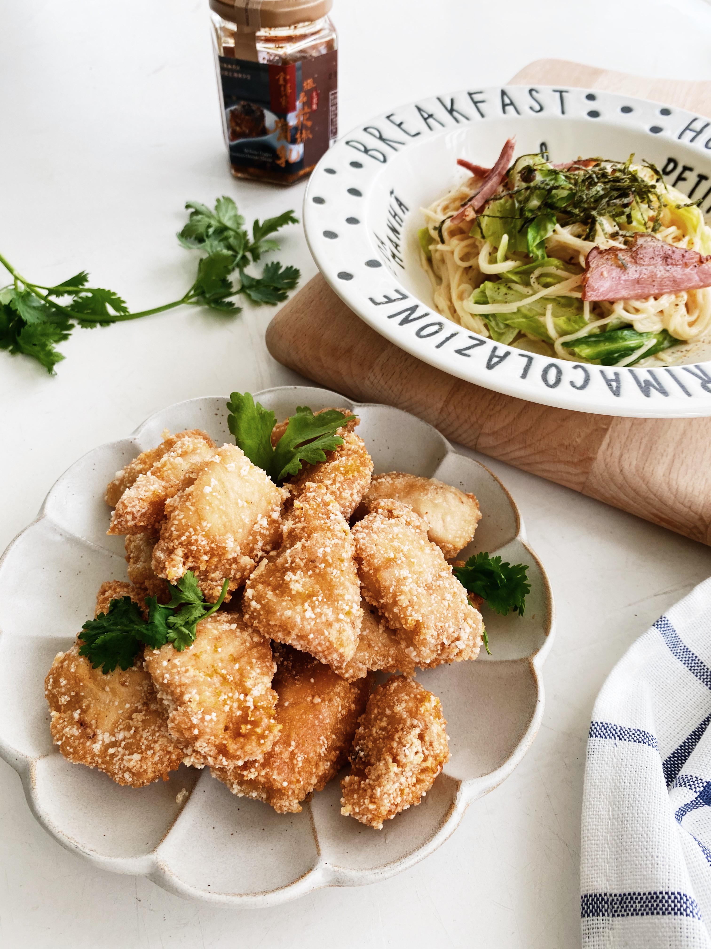 花椒腐乳義大利麵+花椒腐乳雞