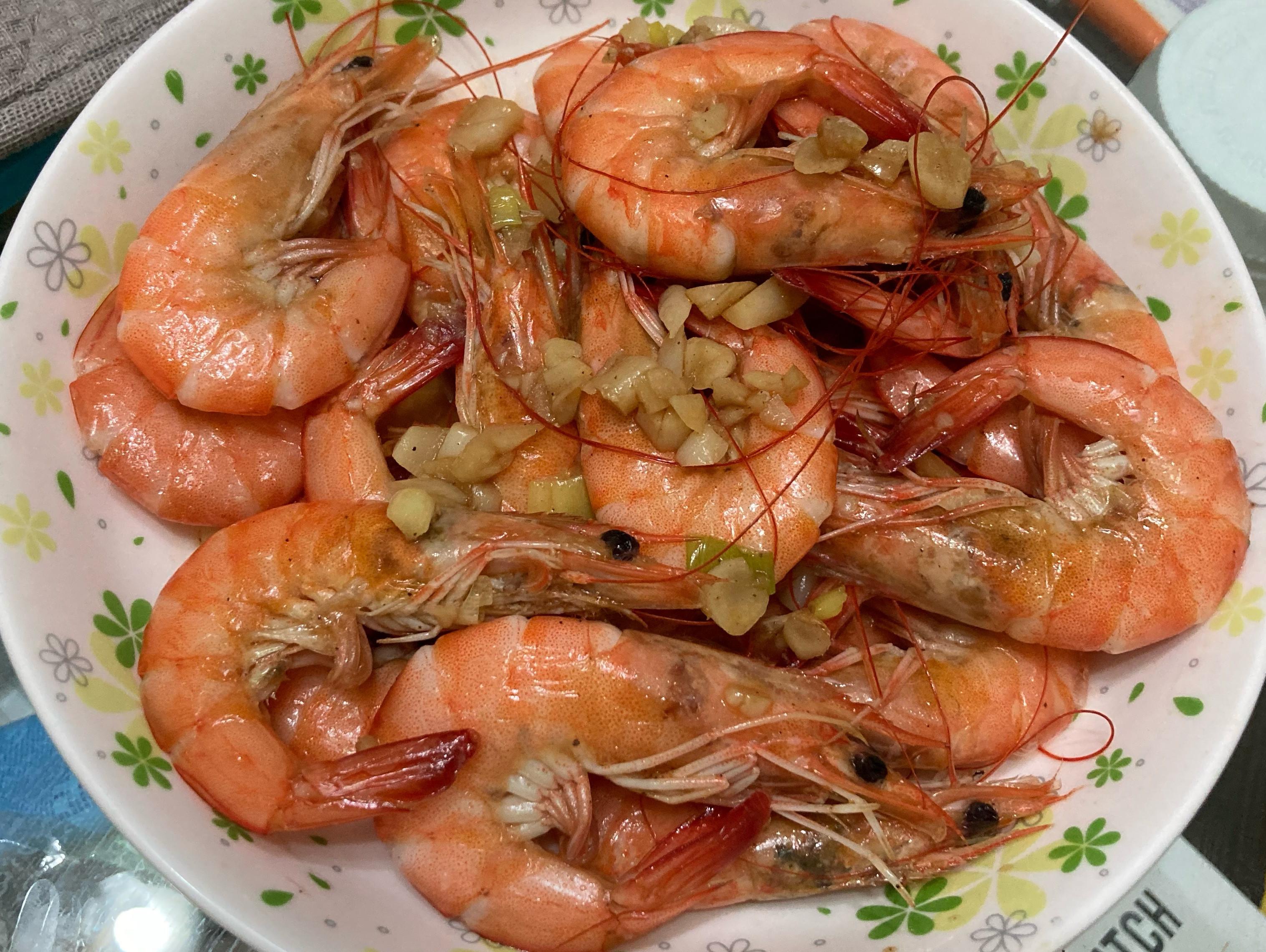 蒜香炒白蝦