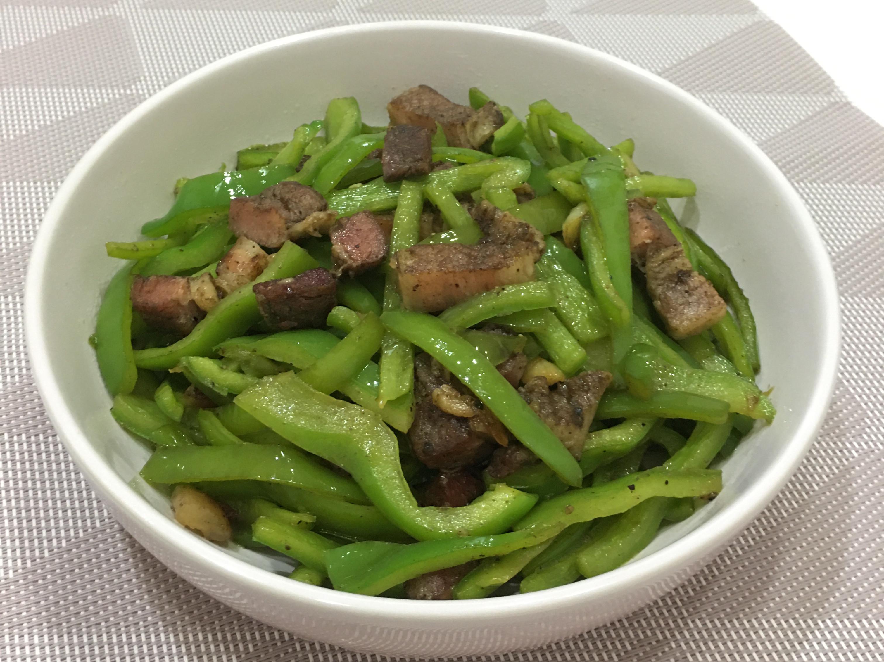 鹹豬肉炒青椒