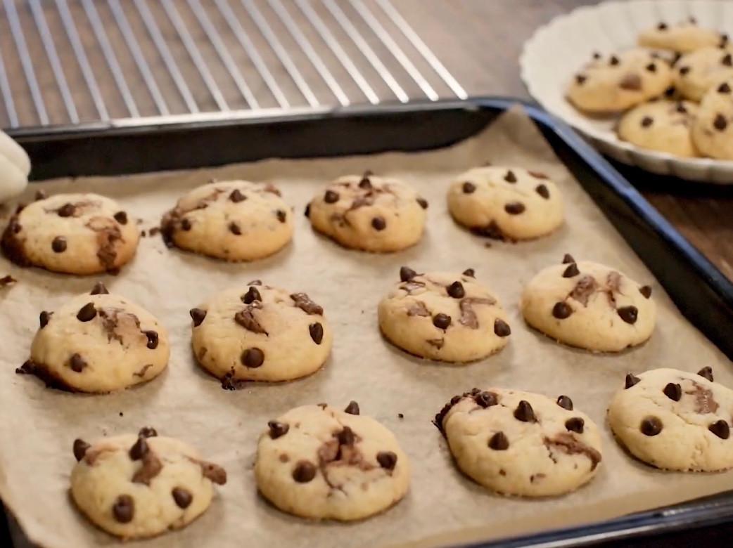 簡單快速|迷你巧克力曲奇餅乾🍪【影片】