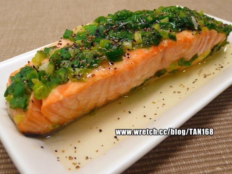♥ ♥鹽葱燒鮭魚♥ ♥<紙包魚1>