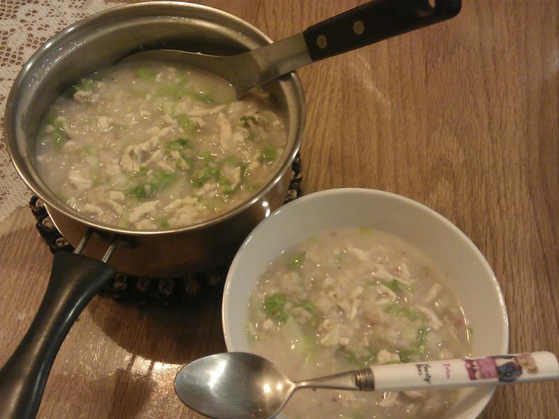小白菜雞肉粥【卡特莉的清淡料理】給病孩