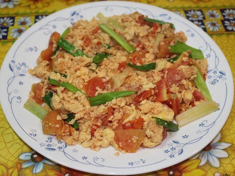 """[先炒蕃茄的 ~~""""蕃茄炒蛋""""]Cynthia廚藝生活"""