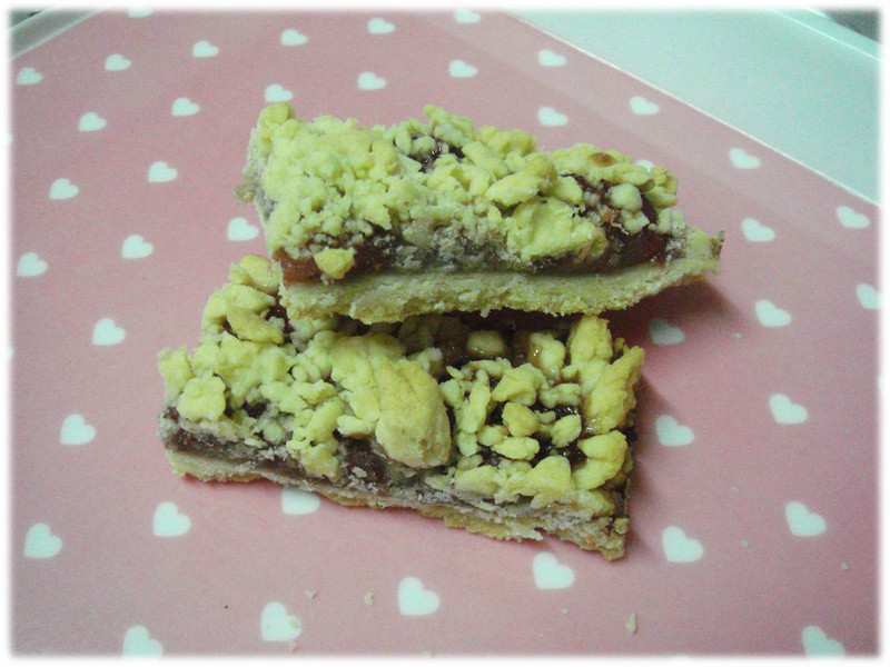 ✿Amber&ViVi家的小廚房✿草莓酥粒餅-自製草莓醬