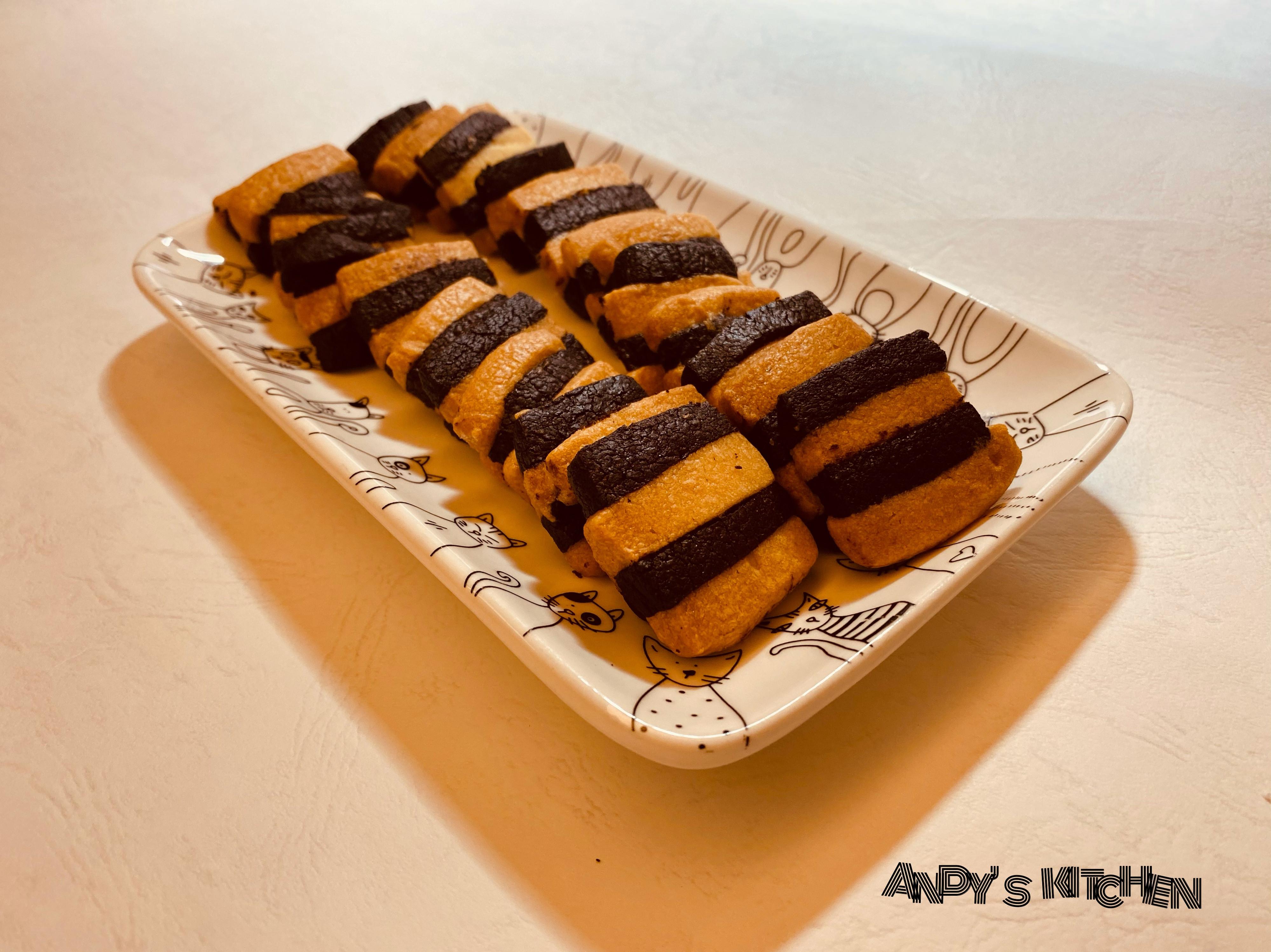 方形雙色餅乾