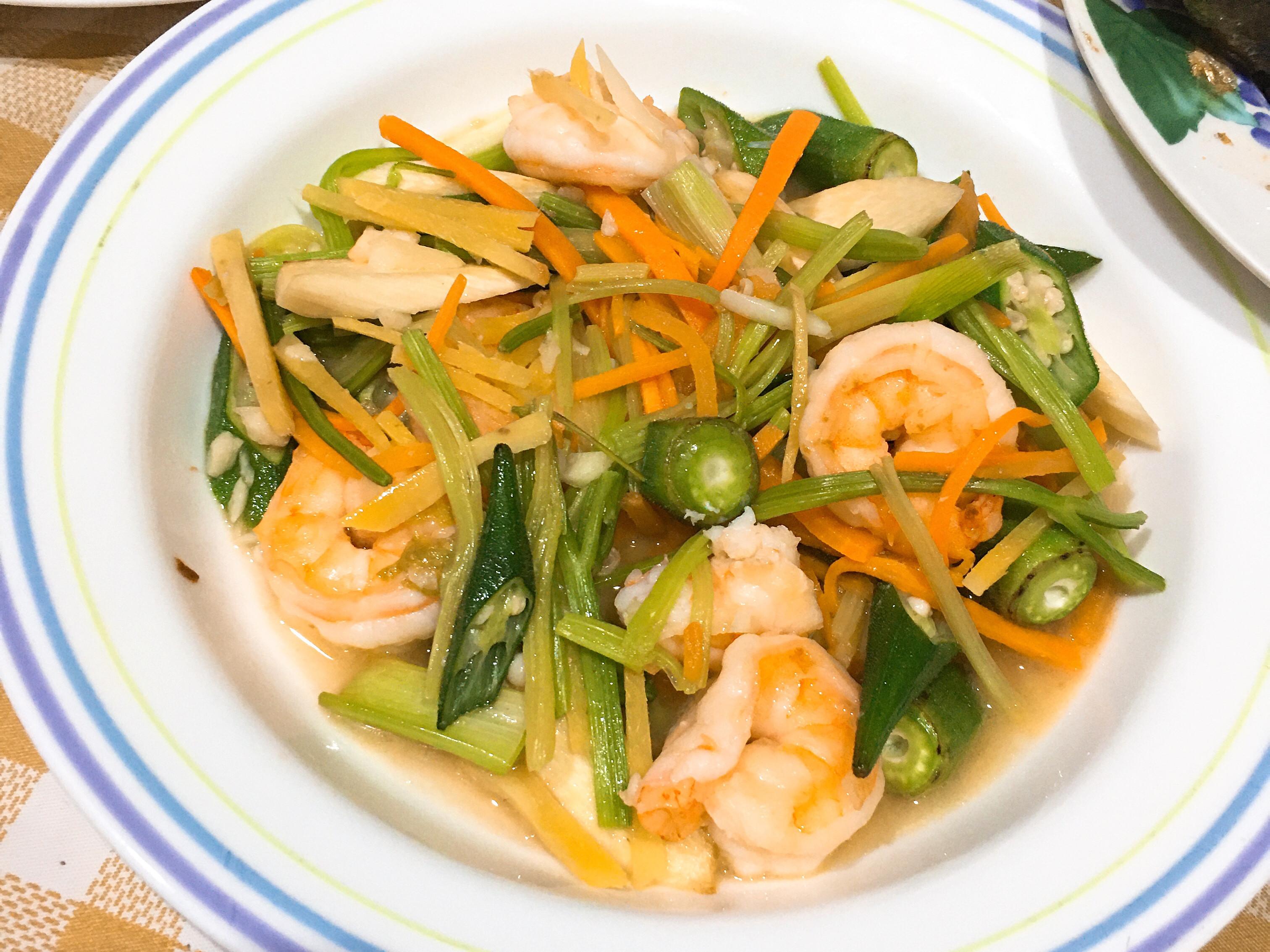 (清冰箱料理)✌️時蔬炒蝦仁
