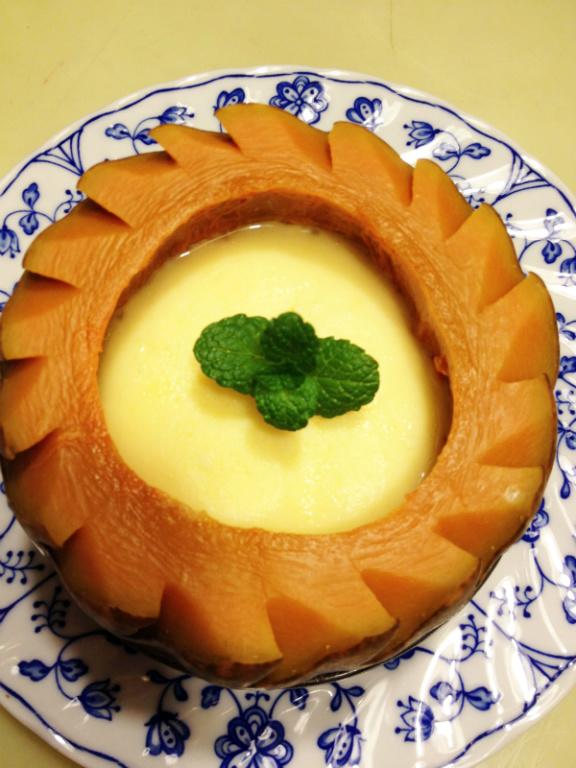 莎媽五心級料理~南瓜蒸蛋甜盅