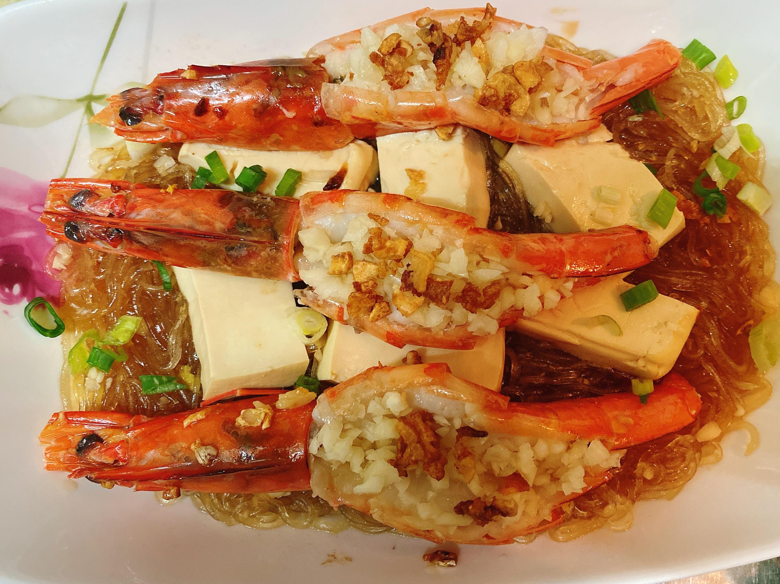 《蒜香》鮮蝦粉絲豆腐