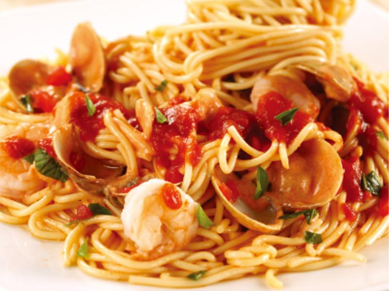 經典義大利風味料理(蕃茄海鮮義大利麵)