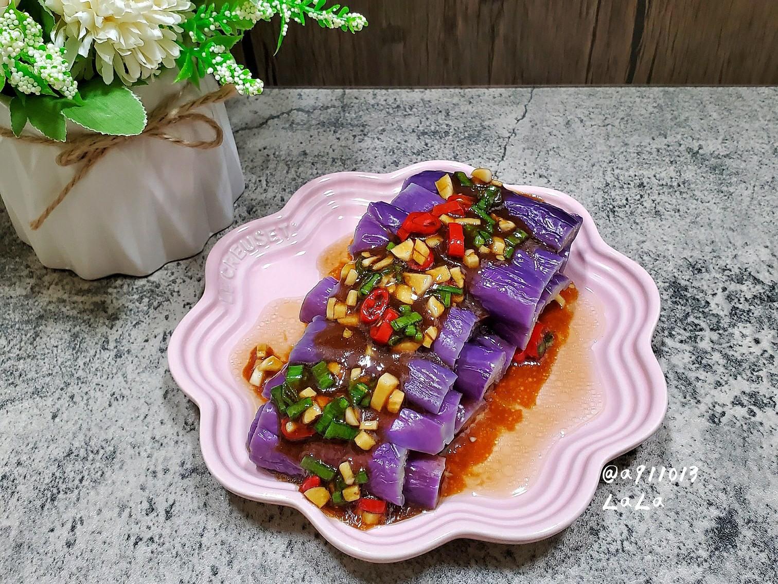 水煮紫茄(茄子不會變黑的訣竅)