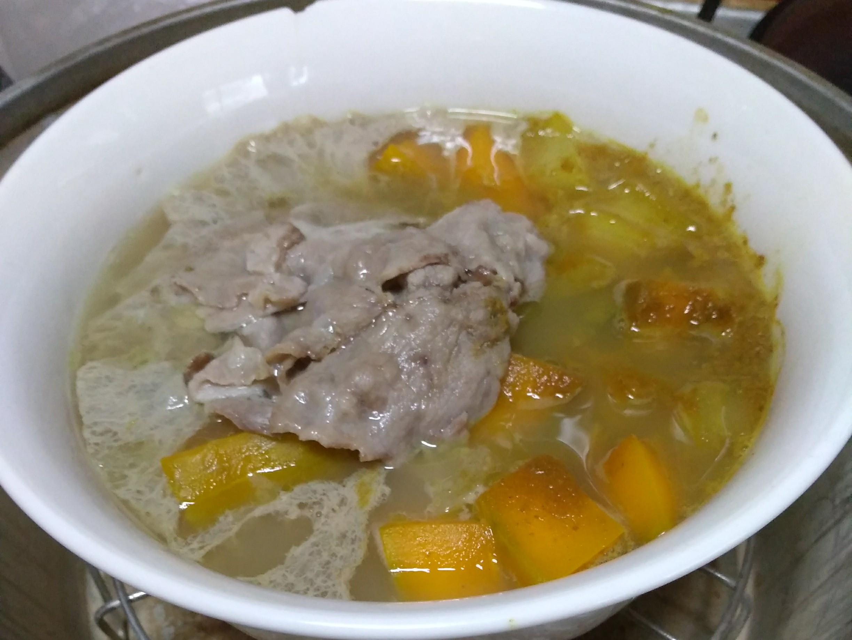 南瓜豬肉咖哩