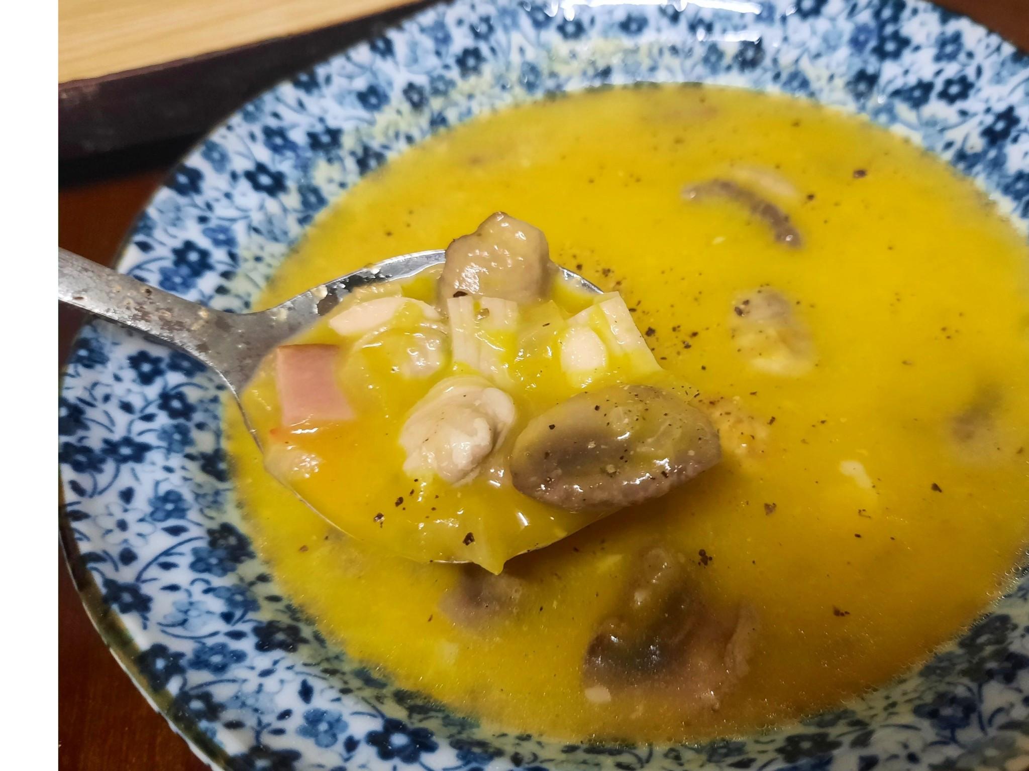南瓜蛤蜊蘑菇濃湯