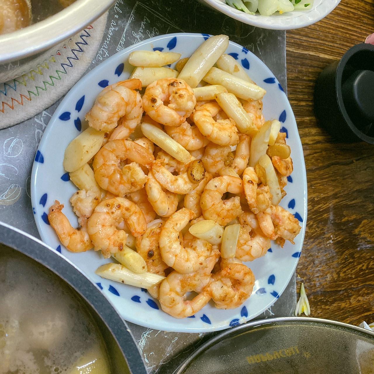 蒜香蝦仁炒白蘆筍