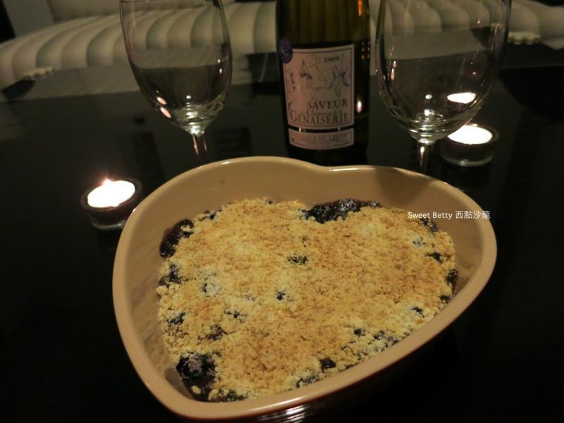 白蘭地藍莓奶酥派 blueberry crumble