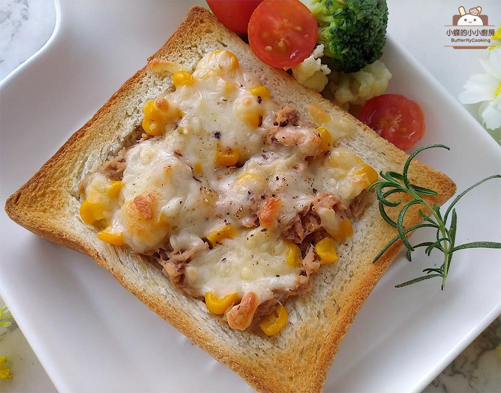 焗烤鮪魚吐司披薩★簡單美味的吐司披薩