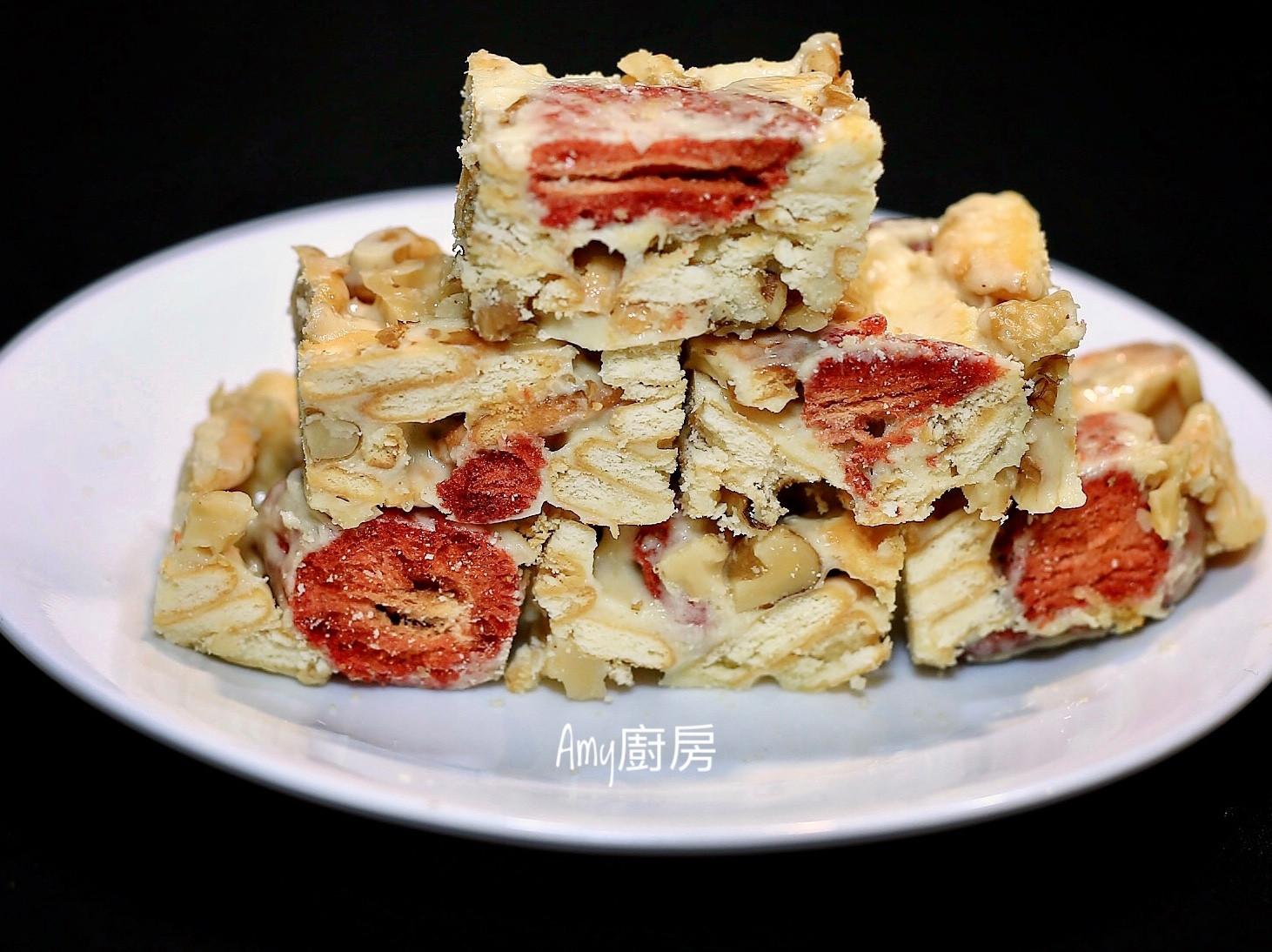 草莓核桃雪Q餅(不失敗料理)