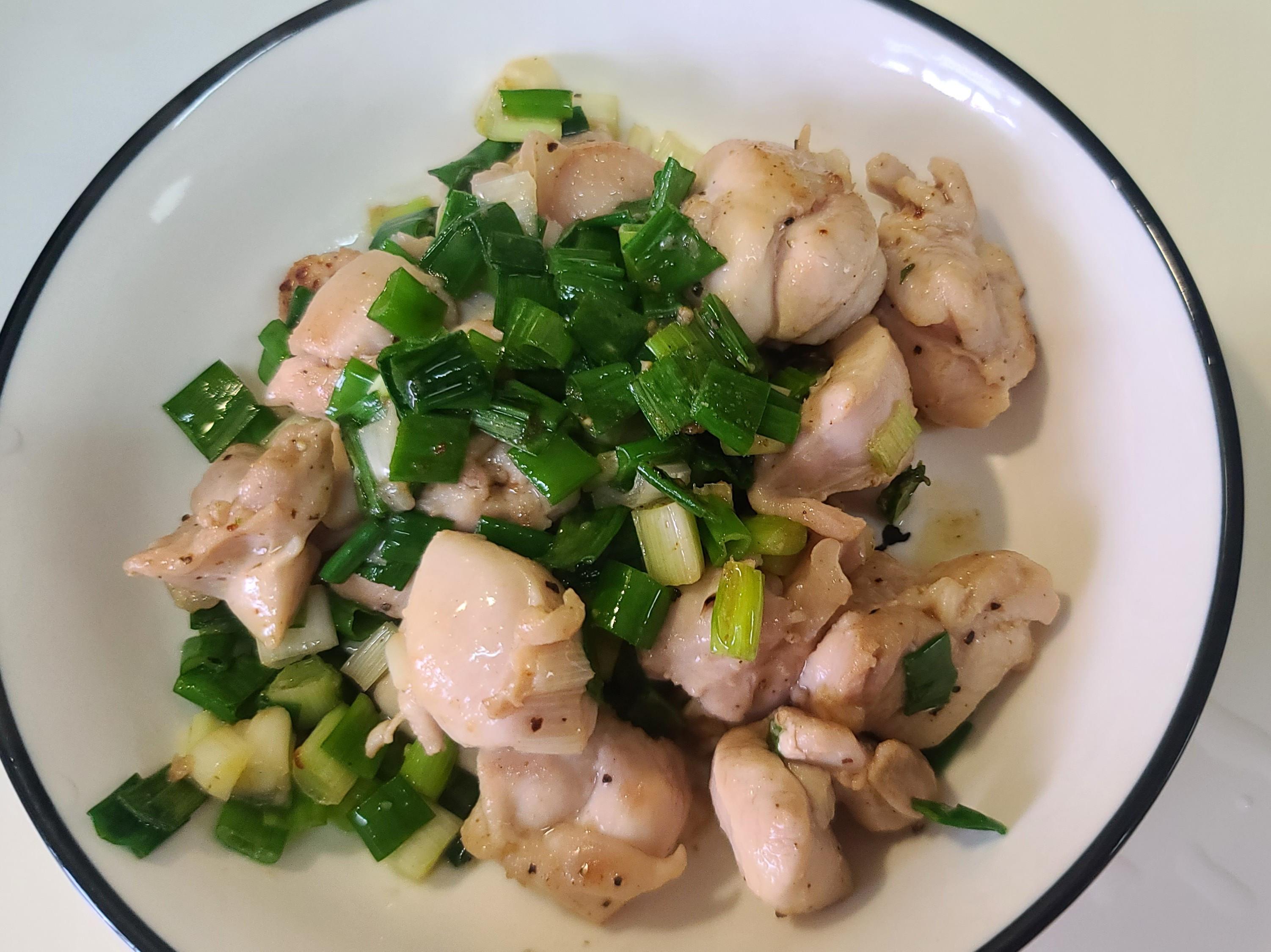 10分鐘料理-蔥爆奶油雞腿