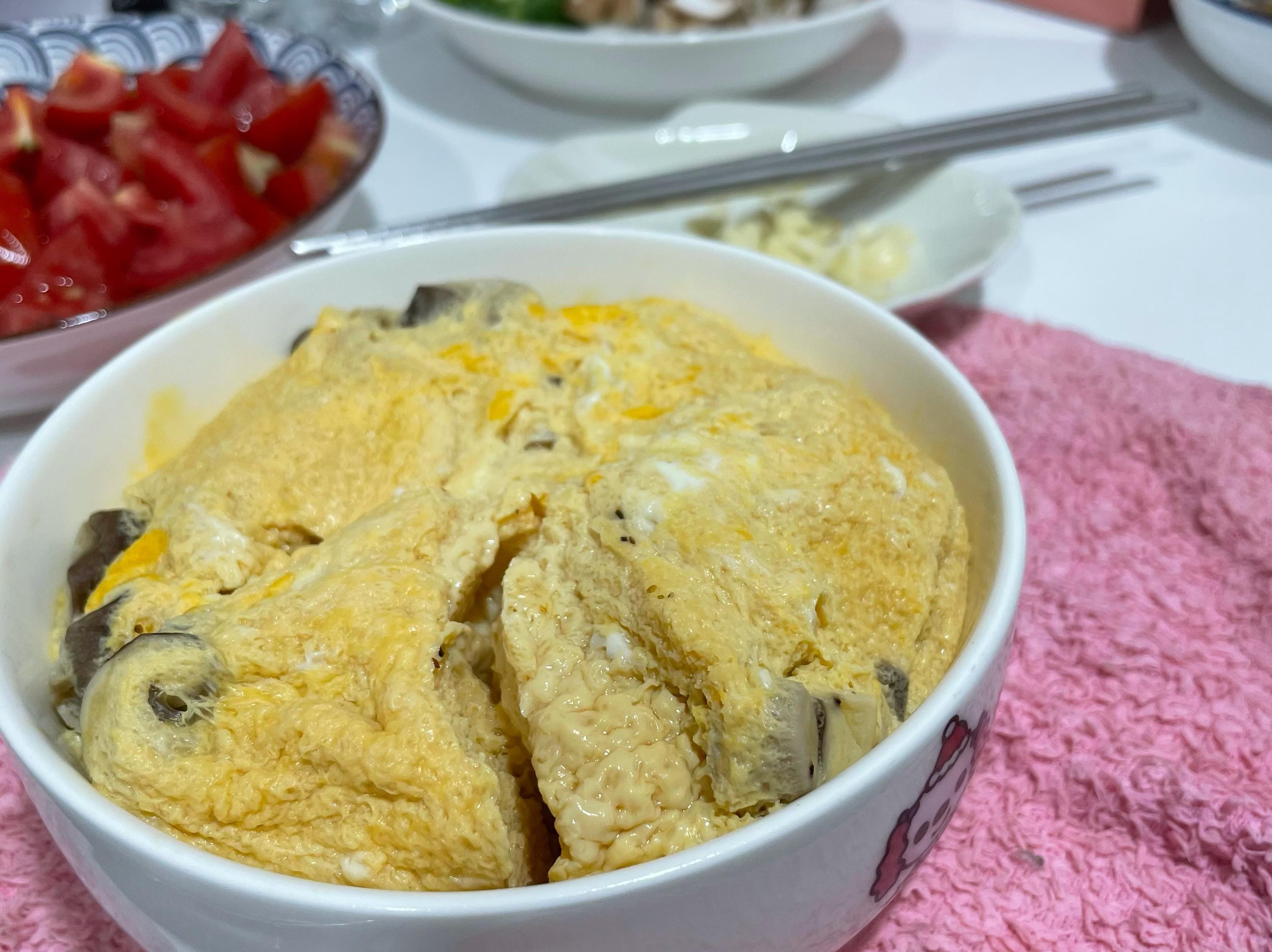 減脂👉🏻香菇海鮮蒸蛋