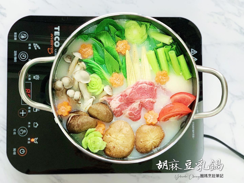胡麻豆乳鍋 (簡易高湯)