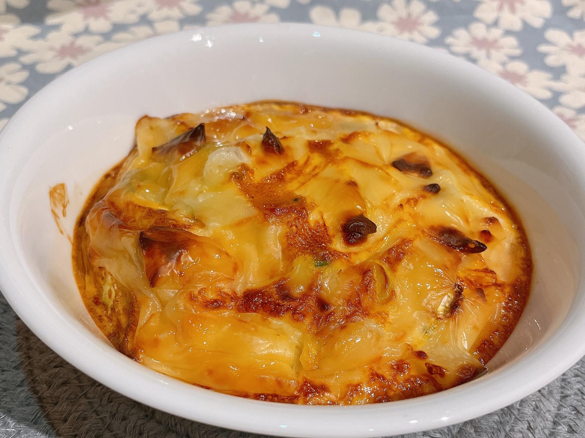 起司蔬菜烘蛋熱狗干貝甜椒-氣炸烤箱版鍋寶