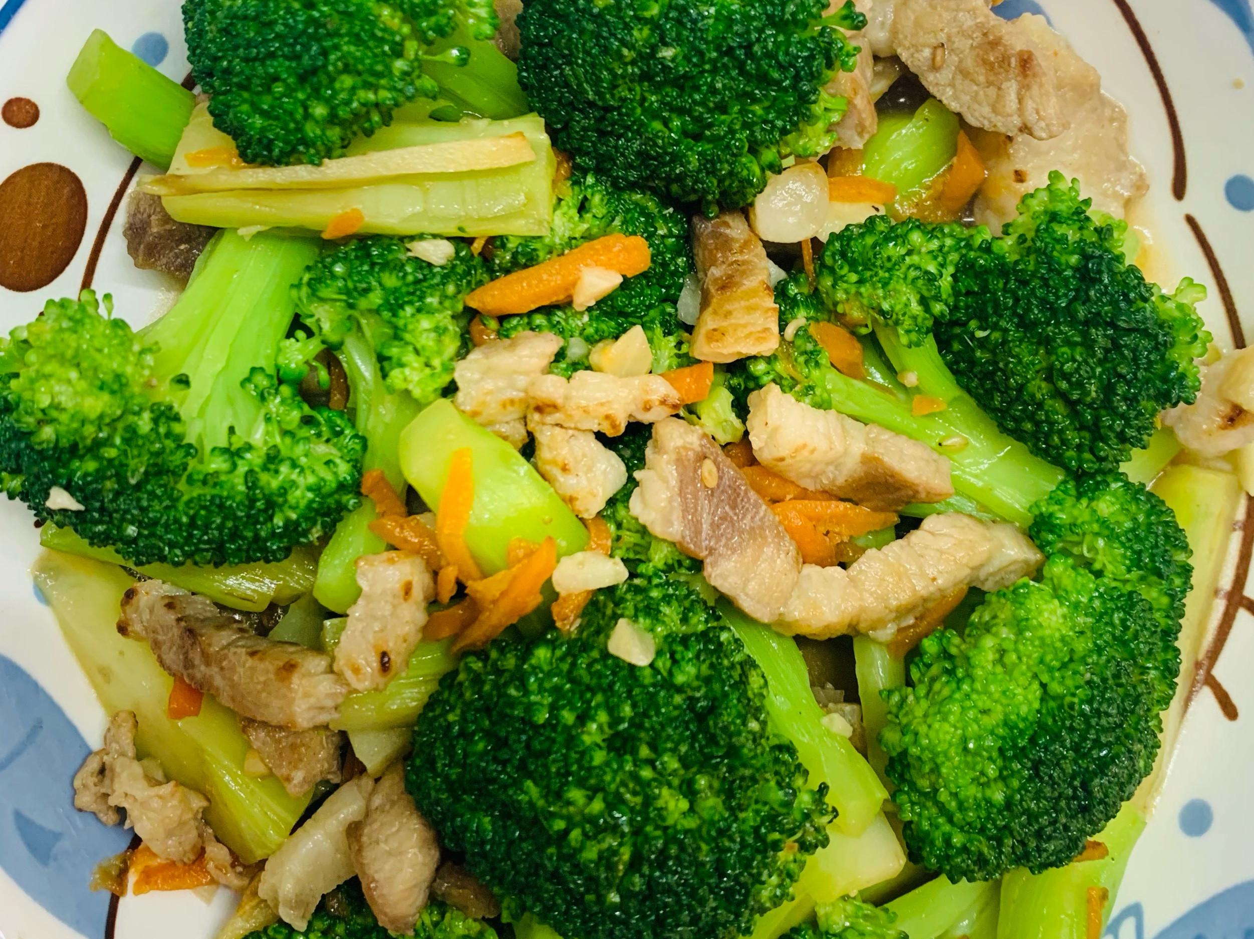 肉絲炒青花菜