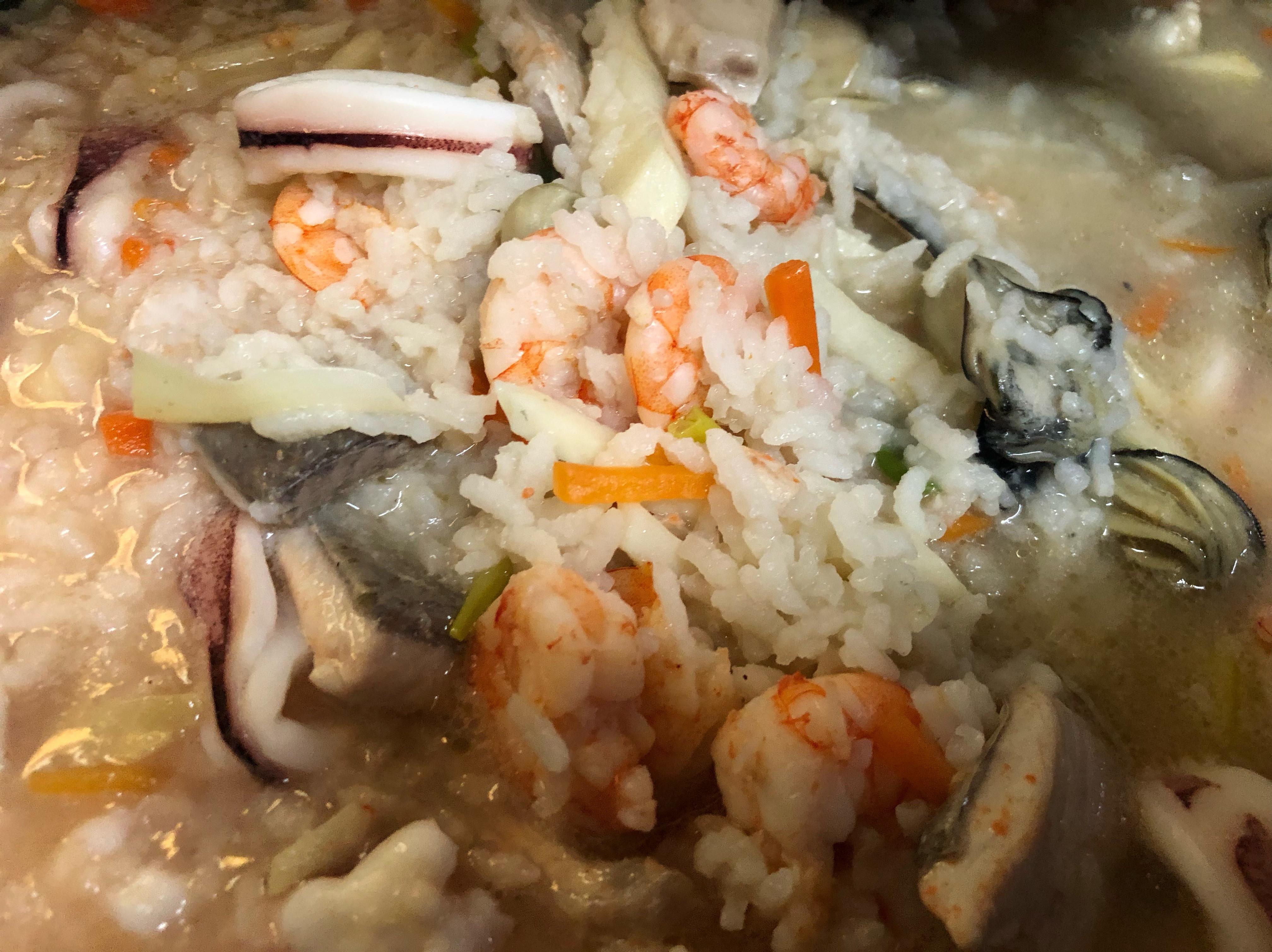 虱目魚海鮮粥